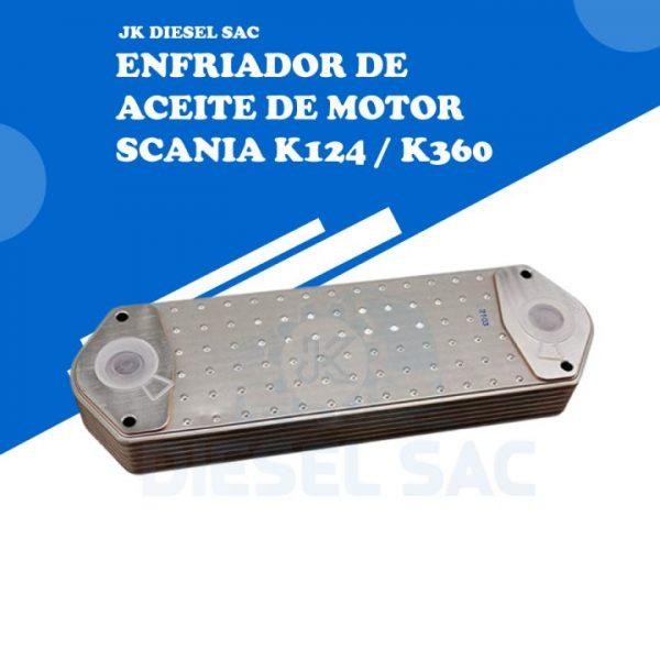 ENFRIADOR DE ACEITE DE MOTOR Scania 1333183 k124